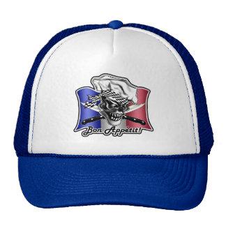 French Chef Skull Hat: Bon Appetit! Hat