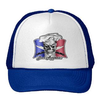 French Chef Skull Hat: Bon Appetit! Trucker Hat