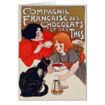 French Chocolate Party Greeting Card