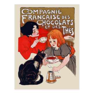 French Chocolate Party Postcard
