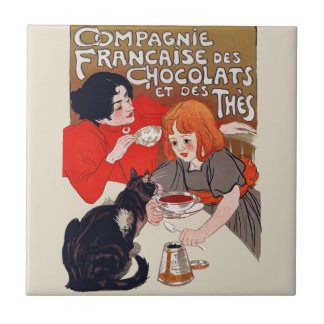 French Chocolate Party Tile