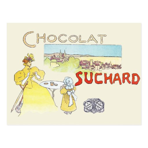 French Chocolate Vintage Candy Advertising Postcard