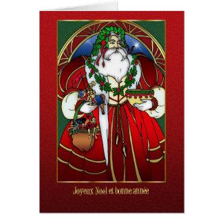 French Christmas Card - Santa Claus -Joyeux Noël