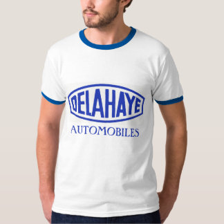 French classic automobile Delahaye logo remake T-shirts