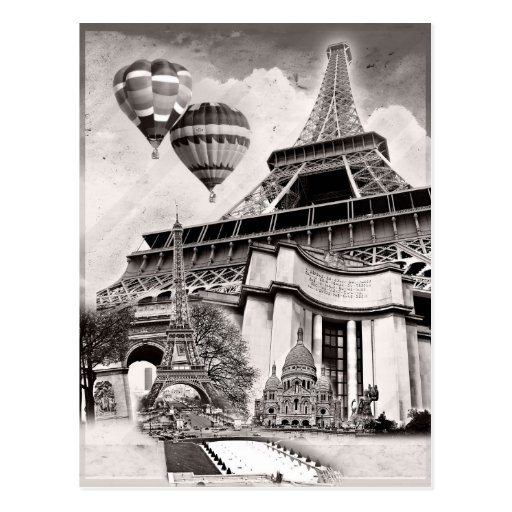 French Collage v1 Postcards