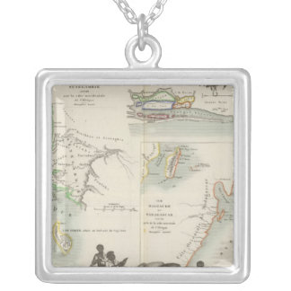 French Colonies in Africa Silver Plated Necklace