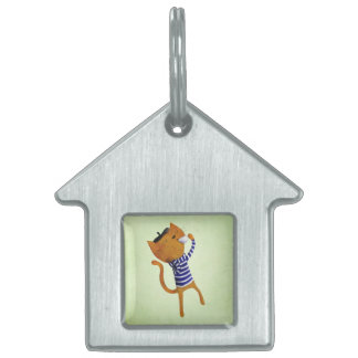 French Cool Cat Pet Tag