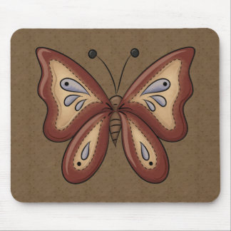 French Country Fall Autumn Butterfly Mousepad