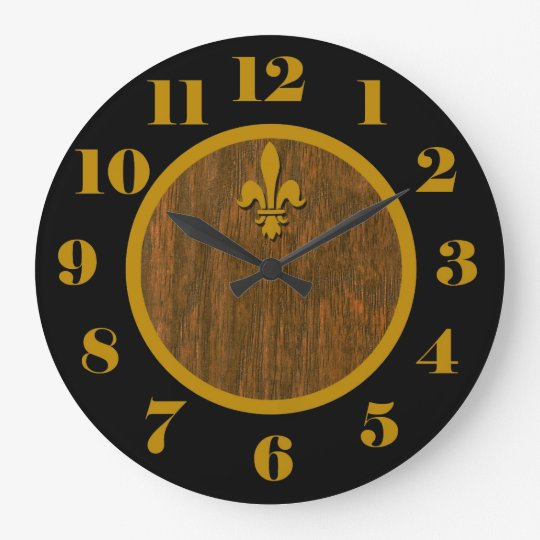 French Country Fleur de Lis Clock