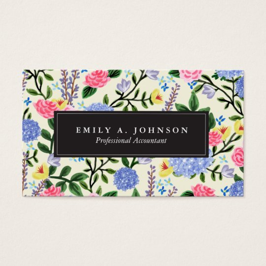 French Country Garden Business Cards