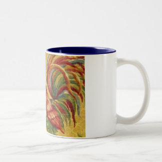 French Country Gold Rooster 2 Tone Coffee Mug