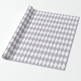 French Country Harlequin Lilac & White Wrapping Paper