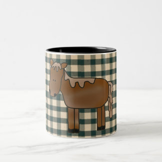 French Country Horse Coffee Cup Two-Tone Mug