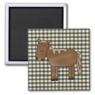 French Country Horse Fridge Magnet
