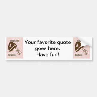 French Country Kitchen - Hand Mixer on Damask Car Bumper Sticker
