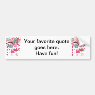 French Country Kitchen - Hand mixer on floral. Car Bumper Sticker