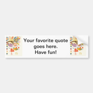 French Country Kitchen - Hand mixer on floral. Bumper Sticker