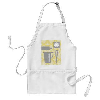 French Country Kitchen - Utensils on damask floral Standard Apron