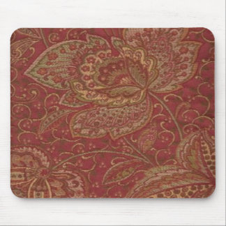 French Country Paisley Sage Gold Wine Mousepad