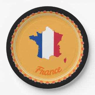 French country paper plate
