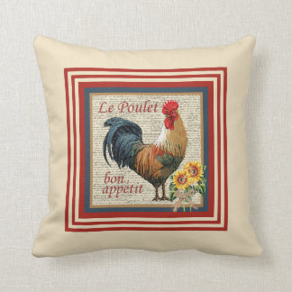 French Country Rooster Cushion