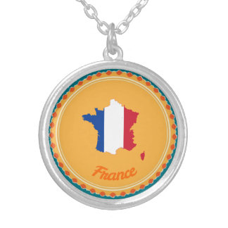French country silver plated necklace