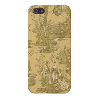 French Country Toile Butter Cream Case iPhone 4 iPhone 5/5S Cases
