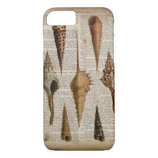 french country vintage botanical print seashell iPhone 8/7 case