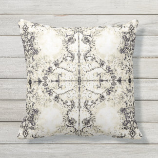 French Country Vintage Champagne Mosaic by Deprise Outdoor Cushion