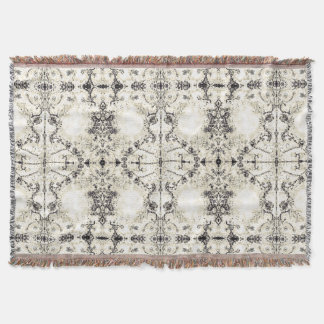 French Country Vintage Champagne Mosaic by Deprise Throw Blanket
