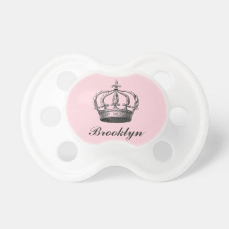 French Crown Personalized Pacifier