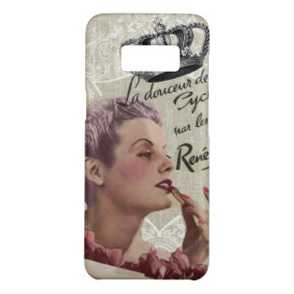 French Crown Retro Lady Shabby Chic Paris Case-Mate Samsung Galaxy S8 Case