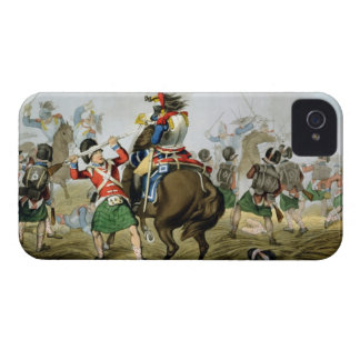 French Cuirassiers at the Battle of Waterloo, Char iPhone 4 Case-Mate Cases