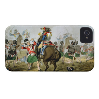 French Cuirassiers at the Battle of Waterloo, Char iPhone 4 Cover