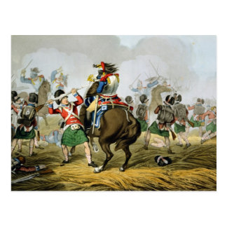 French Cuirassiers at the Battle of Waterloo, Char Postcard
