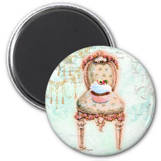 French Cupcake Victorian Style Magnet