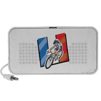 French Cyclist 2 Portable Speakers