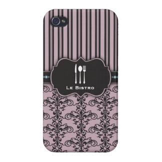 French Damask Restaurant Chef Case iPhone 4/4S Cases