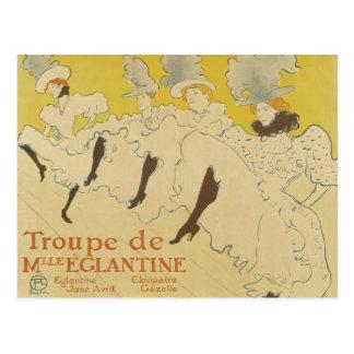 French Dancers Vintage Postcard