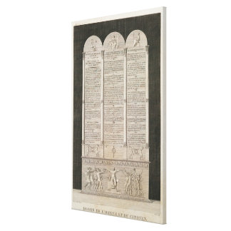French Declaration of the Rights of Man Canvas Print