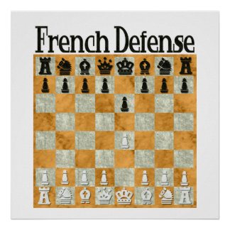 French Defense Poster