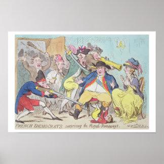 'French Democrats Surprising the Royal Runaways', Poster