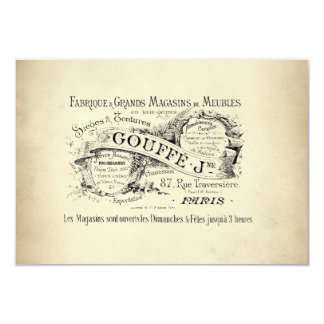 French Department Store Sign 9 Cm X 13 Cm Invitation Card