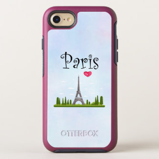 French Design - Eiffel Tower in Paris OtterBox Symmetry iPhone 8/7 Case
