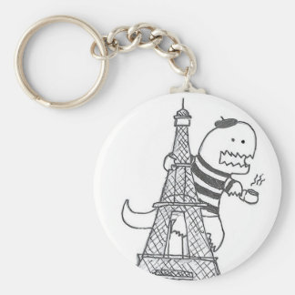 French Dinosaur Keychain