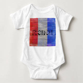 French Distressed Flag - France Baby Bodysuit