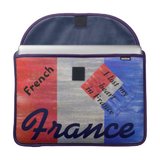 French Distressed Flag - France Sleeve For MacBook Pro