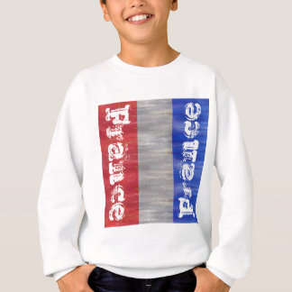French Distressed Flag - France Sweatshirt