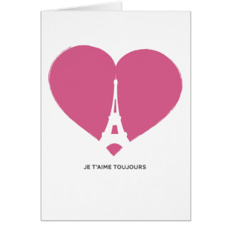 French Eiffel Tower Love Note Valentine Greeting Card