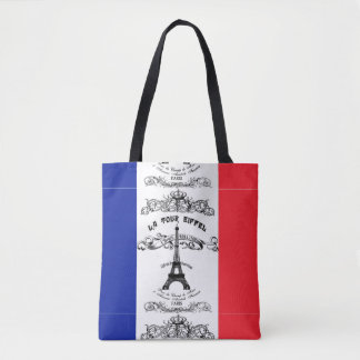 French Eiffel Tower Tote Bag
